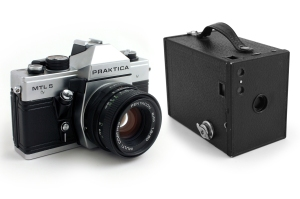 Praktica MTL5 and Brownie No2